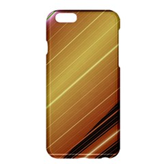 Diagonal Color Fractal Stripes In 3d Glass Frame Apple Iphone 6 Plus/6s Plus Hardshell Case