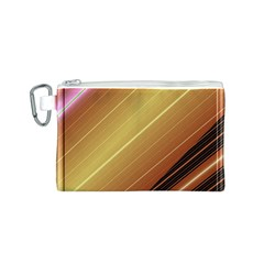 Diagonal Color Fractal Stripes In 3d Glass Frame Canvas Cosmetic Bag (s)