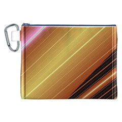 Diagonal Color Fractal Stripes In 3d Glass Frame Canvas Cosmetic Bag (xxl)