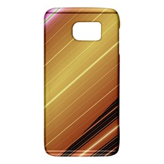 Diagonal Color Fractal Stripes In 3d Glass Frame Galaxy S6
