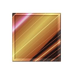 Diagonal Color Fractal Stripes In 3d Glass Frame Satin Bandana Scarf