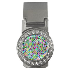 Colorful Dots Balls On White Background Money Clips (cz)