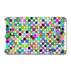 Colorful Dots Balls On White Background Magnet (rectangular)