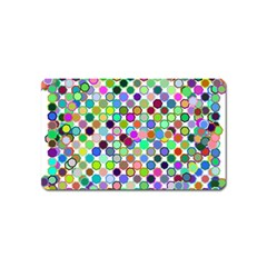 Colorful Dots Balls On White Background Magnet (name Card)
