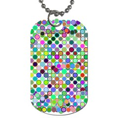 Colorful Dots Balls On White Background Dog Tag (one Side)