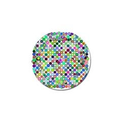 Colorful Dots Balls On White Background Golf Ball Marker