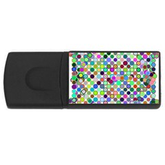Colorful Dots Balls On White Background USB Flash Drive Rectangular (1 GB)
