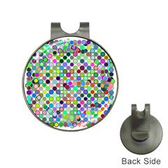 Colorful Dots Balls On White Background Hat Clips With Golf Markers