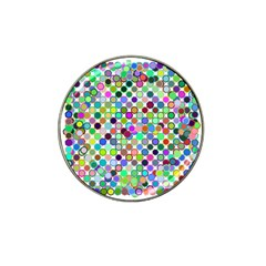 Colorful Dots Balls On White Background Hat Clip Ball Marker