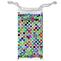 Colorful Dots Balls On White Background Jewelry Bag