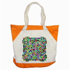 Colorful Dots Balls On White Background Accent Tote Bag