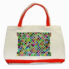 Colorful Dots Balls On White Background Classic Tote Bag (red)