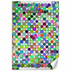 Colorful Dots Balls On White Background Canvas 12  X 18