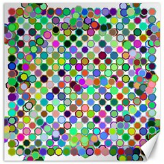 Colorful Dots Balls On White Background Canvas 20  X 20