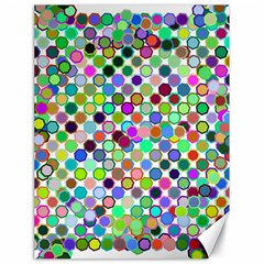 Colorful Dots Balls On White Background Canvas 18  X 24