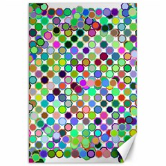 Colorful Dots Balls On White Background Canvas 20  X 30