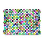 Colorful Dots Balls On White Background Plate Mats 18 x12 Plate Mat - 1