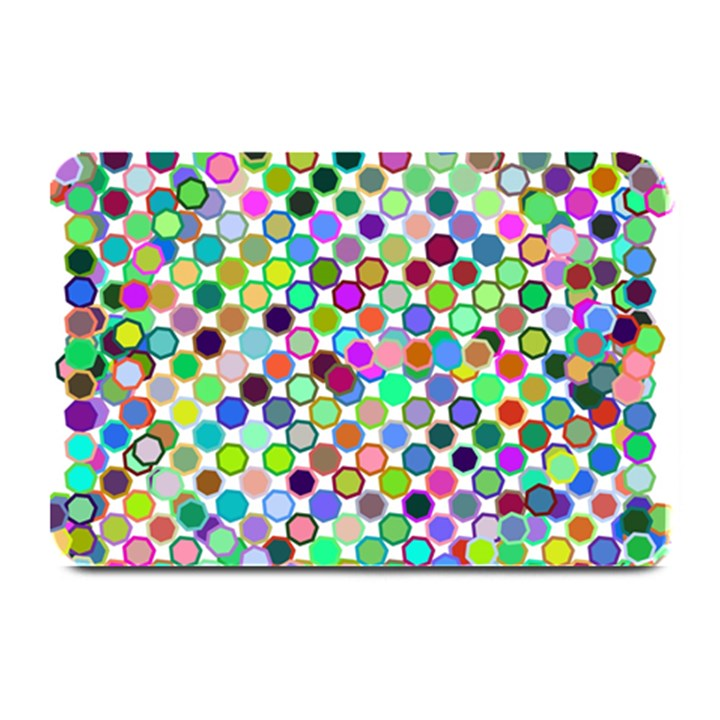 Colorful Dots Balls On White Background Plate Mats