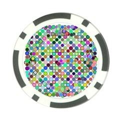Colorful Dots Balls On White Background Poker Chip Card Guard