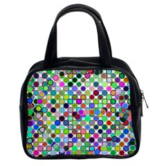 Colorful Dots Balls On White Background Classic Handbags (2 Sides)