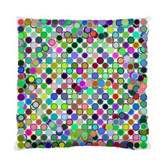 Colorful Dots Balls On White Background Standard Cushion Case (two Sides)