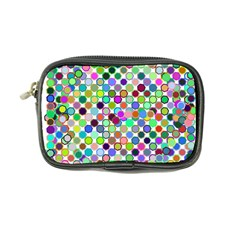 Colorful Dots Balls On White Background Coin Purse