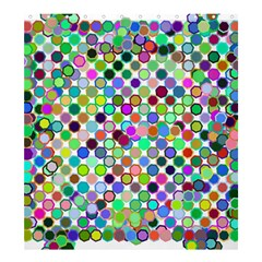 Colorful Dots Balls On White Background Shower Curtain 66  X 72  (large)