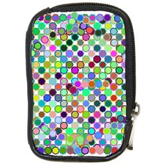 Colorful Dots Balls On White Background Compact Camera Cases