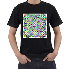 Colorful Dots Balls On White Background Men s T-Shirt (Black)