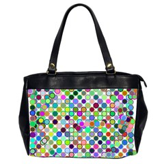 Colorful Dots Balls On White Background Office Handbags (2 Sides)