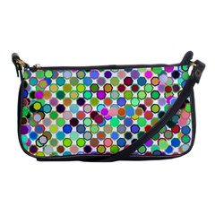 Colorful Dots Balls On White Background Shoulder Clutch Bags