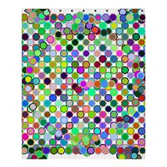 Colorful Dots Balls On White Background Shower Curtain 60  X 72  (medium)
