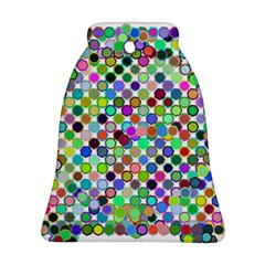 Colorful Dots Balls On White Background Bell Ornament (two Sides)