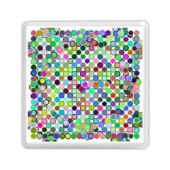 Colorful Dots Balls On White Background Memory Card Reader (square)