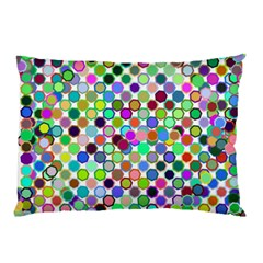 Colorful Dots Balls On White Background Pillow Case (Two Sides)
