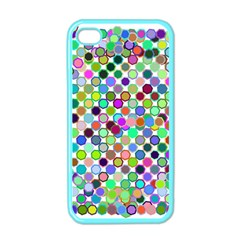 Colorful Dots Balls On White Background Apple iPhone 4 Case (Color)