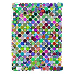 Colorful Dots Balls On White Background Apple iPad 3/4 Hardshell Case (Compatible with Smart Cover)