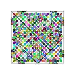 Colorful Dots Balls On White Background Acrylic Tangram Puzzle (4  x 4 )