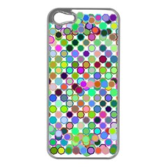 Colorful Dots Balls On White Background Apple Iphone 5 Case (silver)