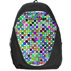 Colorful Dots Balls On White Background Backpack Bag