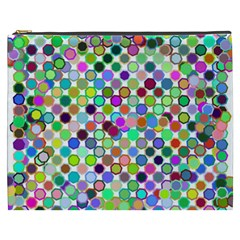 Colorful Dots Balls On White Background Cosmetic Bag (xxxl)