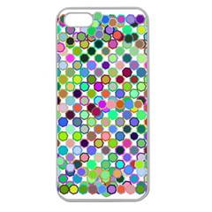 Colorful Dots Balls On White Background Apple Seamless iPhone 5 Case (Clear)