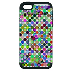 Colorful Dots Balls On White Background Apple Iphone 5 Hardshell Case (pc+silicone)