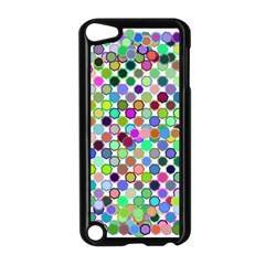 Colorful Dots Balls On White Background Apple iPod Touch 5 Case (Black)
