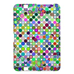 Colorful Dots Balls On White Background Kindle Fire HD 8.9