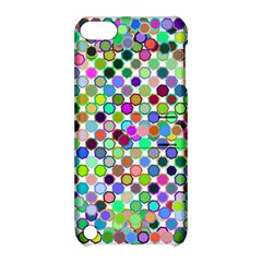 Colorful Dots Balls On White Background Apple iPod Touch 5 Hardshell Case with Stand