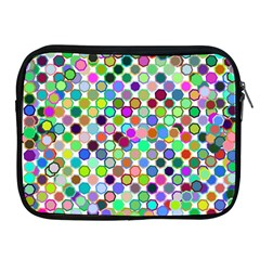 Colorful Dots Balls On White Background Apple iPad 2/3/4 Zipper Cases