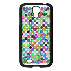 Colorful Dots Balls On White Background Samsung Galaxy S4 I9500/ I9505 Case (Black)