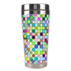 Colorful Dots Balls On White Background Stainless Steel Travel Tumblers