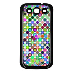 Colorful Dots Balls On White Background Samsung Galaxy S3 Back Case (Black)